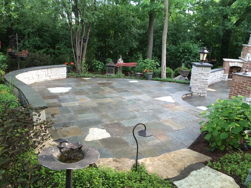 Natural Flagstone Patio : Custom paver patio gallery conrades landscape design