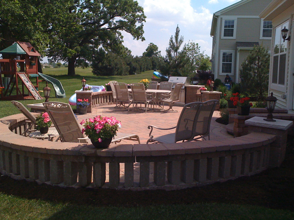 Paver Patio Back Yard