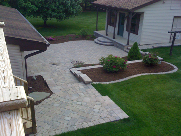 Paver Patio Overhead View