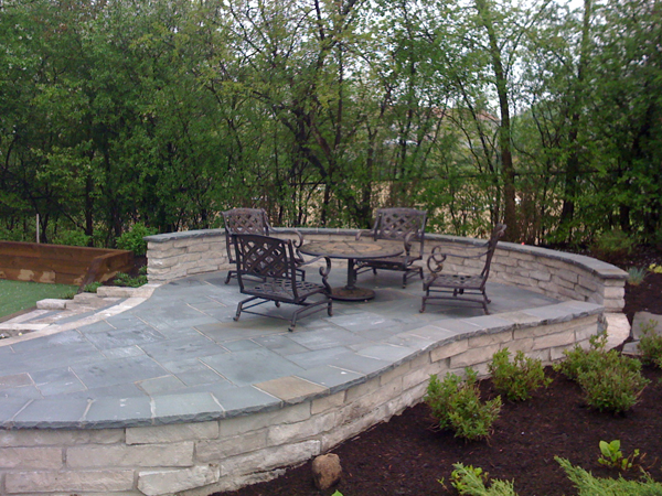 Paver Patio with Table and Chairs