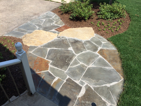 Brick and natural stone paver walkways landscape design Natural stone walkways