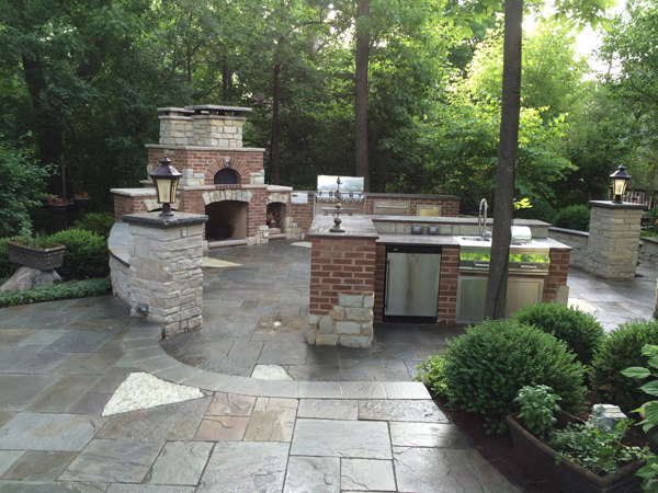 Outdoor Kitchen Fireplace Patio