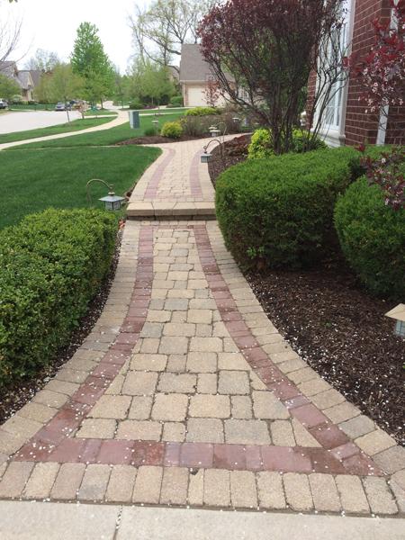 Paver Sidewalk to Front Door
