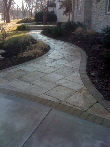 Paver Walkway to Front Porch