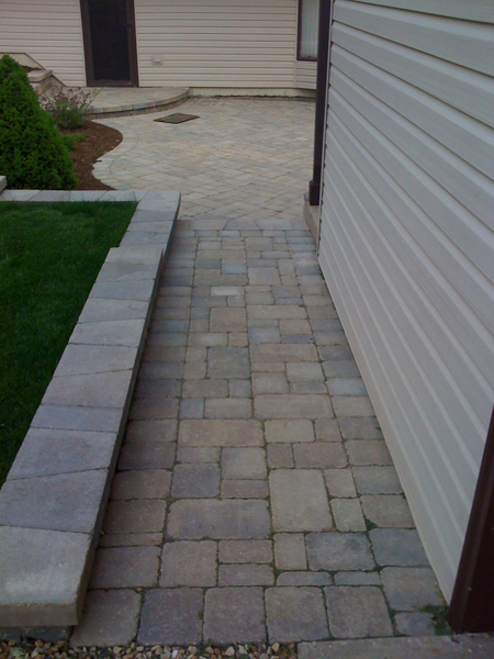 Paver Walkway to Patio