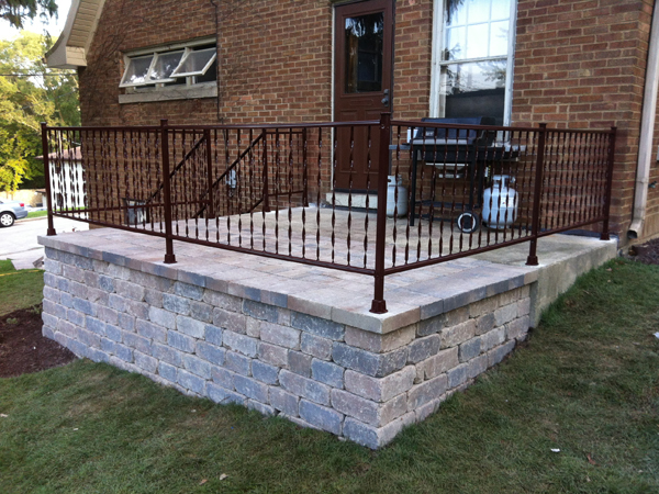 Retaining Wall Porch
