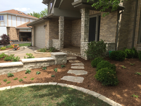 Stone Walkway to Porch