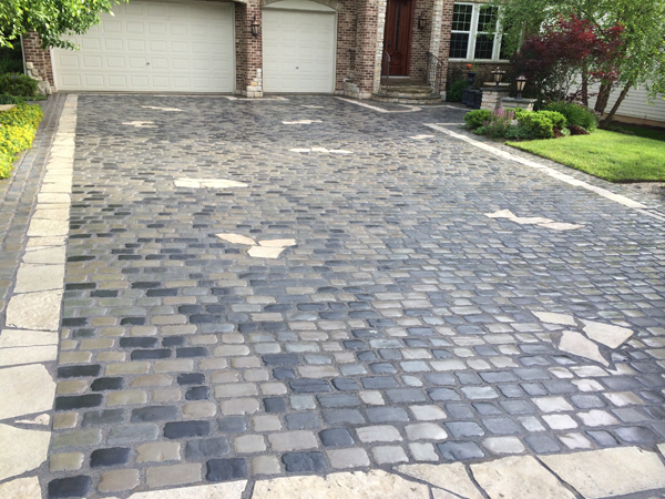 Custom Paver Driveway Close Up
