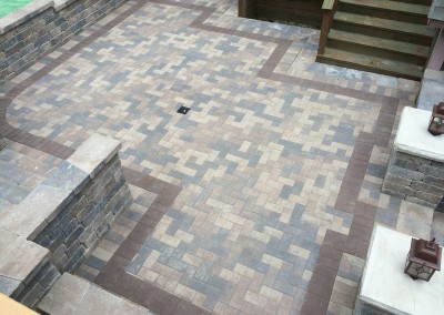 Brick Paver Patio Aerial View