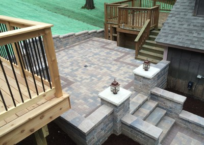 Brick Paver Patio With Stairs