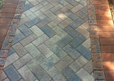 Brick Paver Walkway Close Up