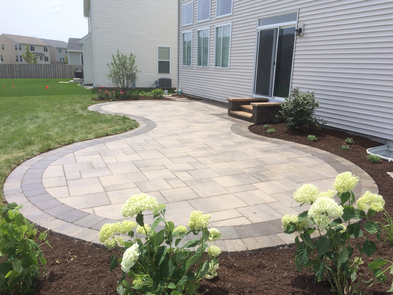 Custom paver patio gallery conrades landscape design - Paver designs for backyard ...