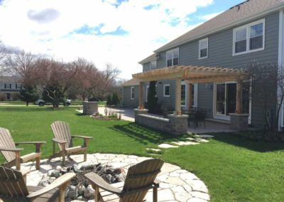 Large Paver Patio With Pergola