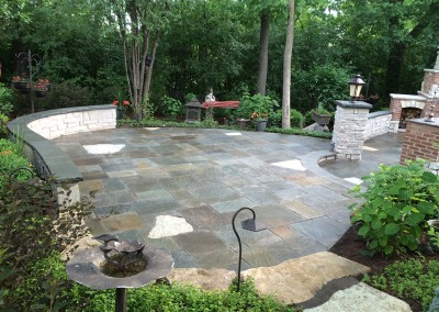 Natural Stone Large Paver Patio