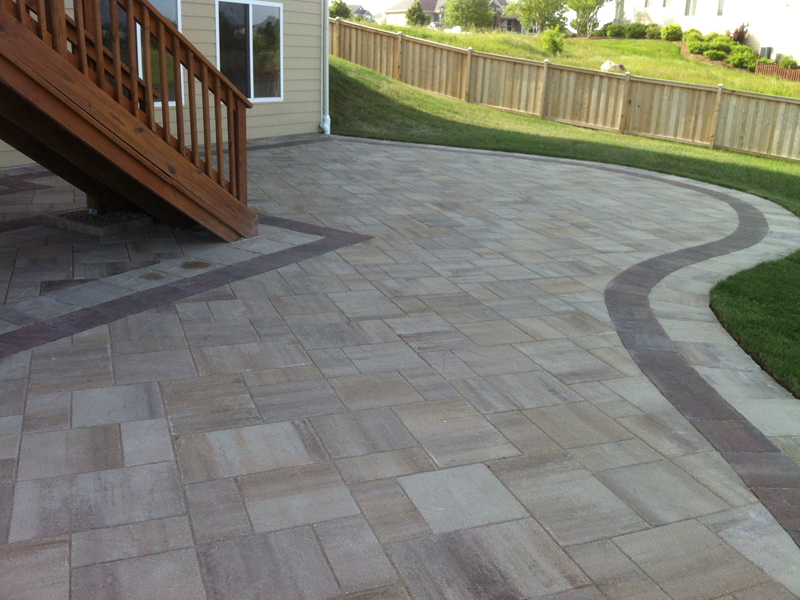 Paver And Natural Stone Patio