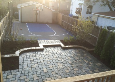 Paver Patio With Basketball Court