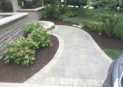 Paver Walkway With Custom Step