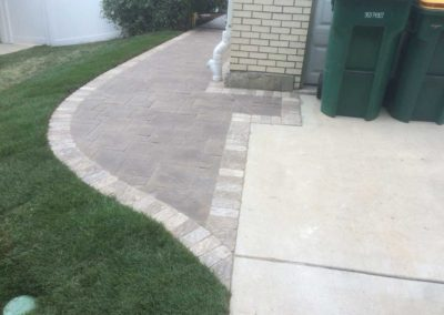 Paver Walkway on Side of House