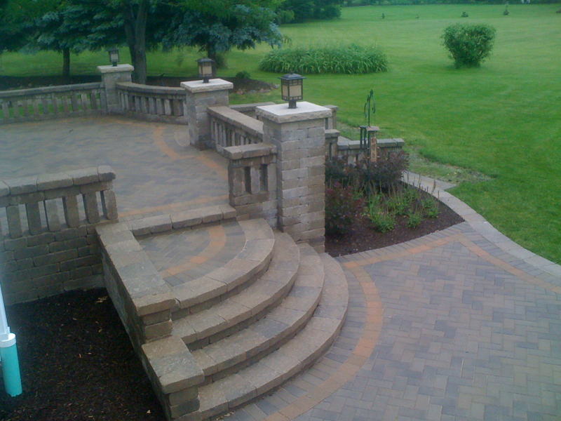 Custom Paver Patio Gallery | Conrades Landscape Design on Tiered Patio Ideas id=59531