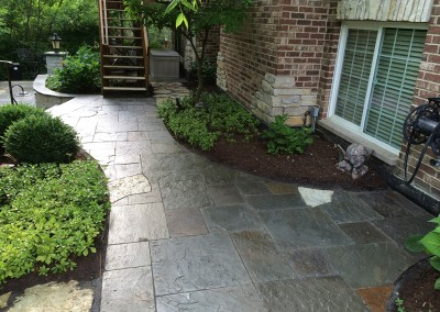 Tiered Paver Walkway