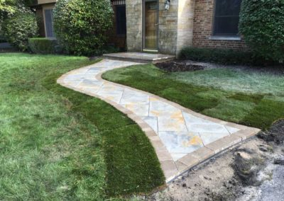 Paver Entryway With Walkway
