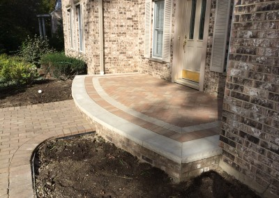 Paver Porch Entryway