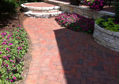 Red Brick Paver Entryway