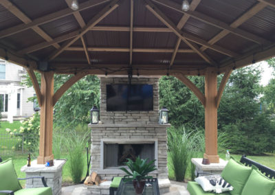 Covered Patio with Fireplace & TV