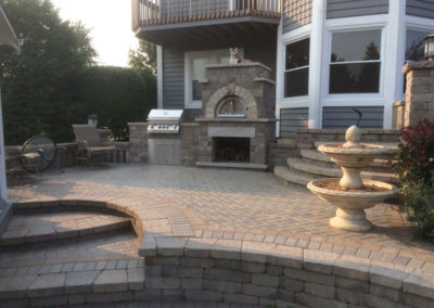 Outdoor Kitchen, Patio & Fireplace
